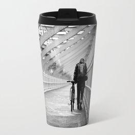 One Way Life , Traveler , Biker , NYC , Williamsburg Bridge  Travel Mug