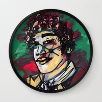 gentleman Wall Clocks featuring Gentleman  by Tamara Jane Lenz