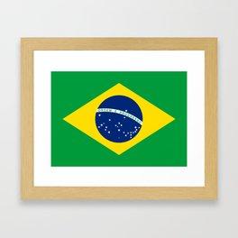 Brazil Flag Graphic Design Framed Art Print