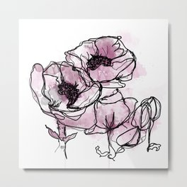poppy seed flower Metal Print