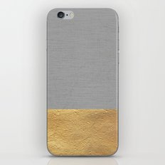Color Blocked Gold & Grey iPhone Skin