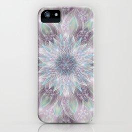 Lavender swirl pattern iPhone Case