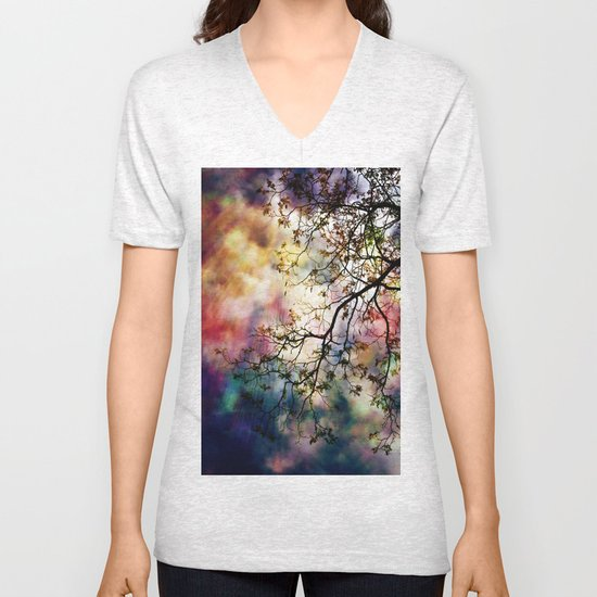 the Tree of Many Colors Unisex V-Neck