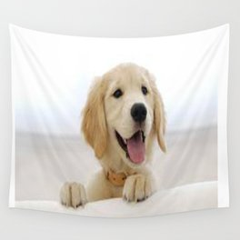 Love Dogs Dog Groomer Paw Print Grooming Cute Wall Tapestry