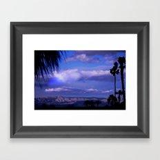 SUNDOWN IN PALM SPRINGS Framed Art Print