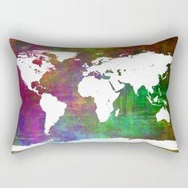 WORLD MAP #society6 Rectangular Pillow