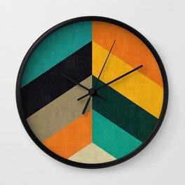 Minimalist and colorful chevron Wall Clock