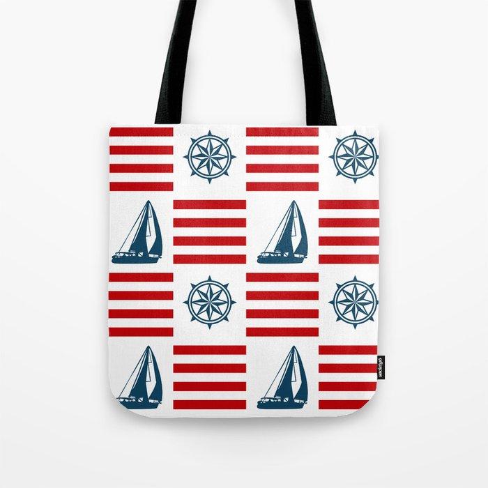 Nautical pattern Tote Bag