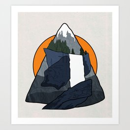Vernal Falls  Art Print