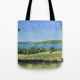 cabin - by phil art guy Tote Bag