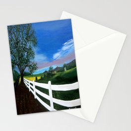 Early sunset Stationery Cards