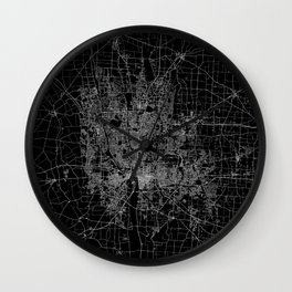 Columbus map ohio Wall Clock