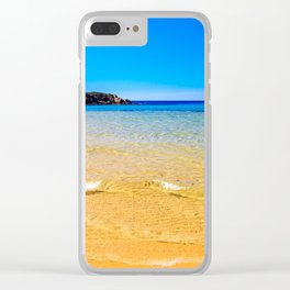 The beach of Chia su Giudeu, Sardinia Clear iPhone Case