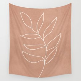 Engraved Leaf Line Wall Tapestry