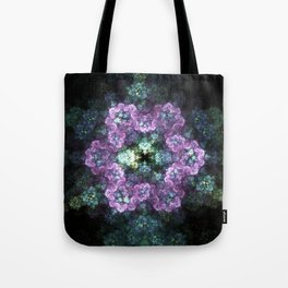 Electric Snowflake Tote Bag