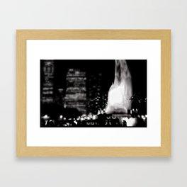 Buckingham Fountain at Night Framed Art Print