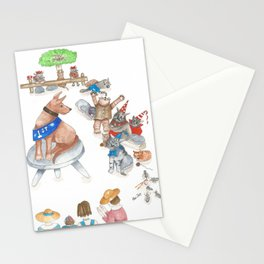 Every Dog may have its day ...but a Cat has Nine Lives Stationery Cards