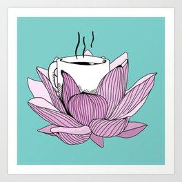 Lotus coffee Art Print