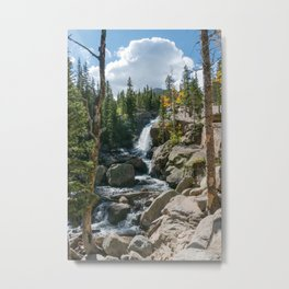 Alberta Falls Rocky Mountains Colorado, United States Metal Print