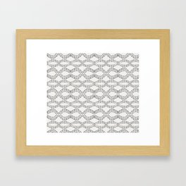 Cleo - boho diamond Framed Art Print