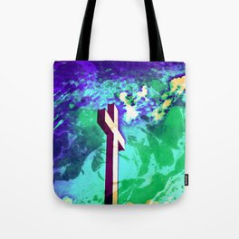 Holy Cross Purple & Green Tote Bag