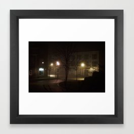 Late Night Misty Evening Framed Art Print