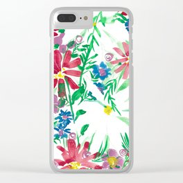 Classic Spring Garden Clear iPhone Case