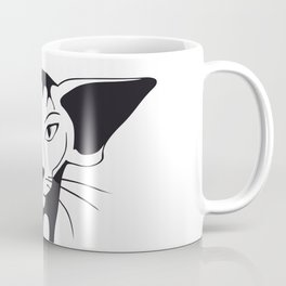 Mean look with a gentle heart Coffee Mug