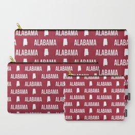 Alabama bama crimson tide pattern football varsity alumni Carry-All Pouch