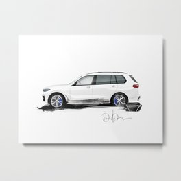 Bavarian sketch Metal Print