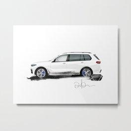 Bavarian sketch Metal Print