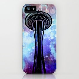 Space Needle - Seattle Stars Clouds Fog iPhone Case