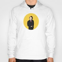 tintin Hoodies featuring Tintin style Mycroft by thediogenes