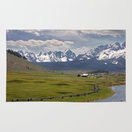 Sawtooths from Lower Stanley, Idaho Rug