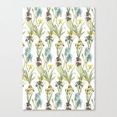 Vintage Floral Pattern | No. 2B | Iris Flowers | Irises Canvas Print