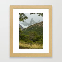 Tree and Mountain Framed Art Print
