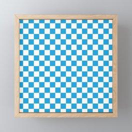 Oktoberfest Bavarian Large Blue and White Checkerboard Framed Mini Art Print