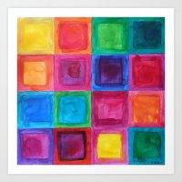 Tiled abstract 1 Art Print