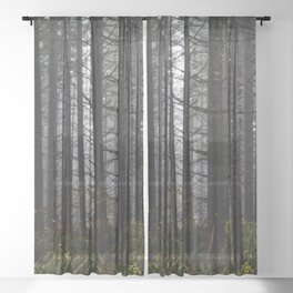 PNW Forest Adventure II - Nature Photography Sheer Curtain