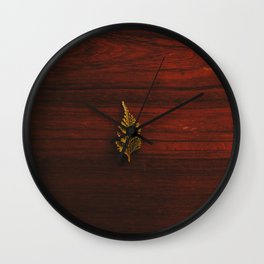 LEAF - WOOD - NATURE - PHOTOGRAPHY Wall Clock