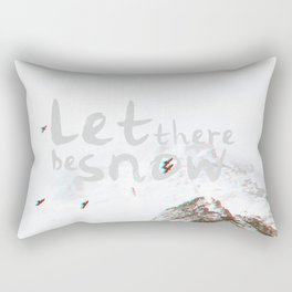Let There Be Snow Rectangular Pillow