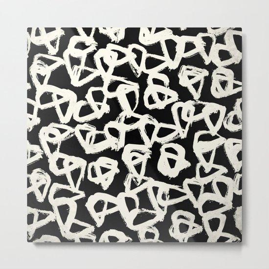 Tribal Triangle Dots Metal Print