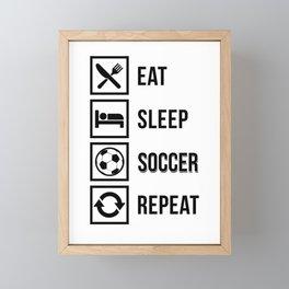 Eat Sleep Soccer Repeat Framed Mini Art Print