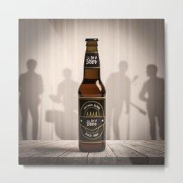 Let it Beer Metal Print