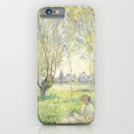 Woman Seated under the Willows iPhone Case