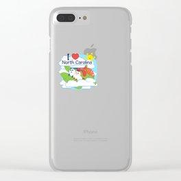 Ernest and Coraline | I love North Carolina Clear iPhone Case