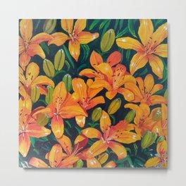 Daylilies in the Garden Metal Print