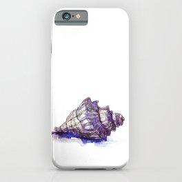 Watercolor Seashell Painting on White 1 Minimalist Coast - Sea - Beach - Shore iPhone Case