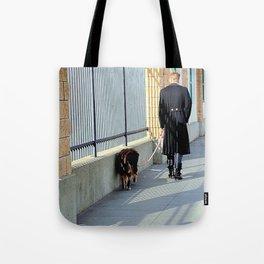 The Shadow Striper's Dog Walk Tote Bag