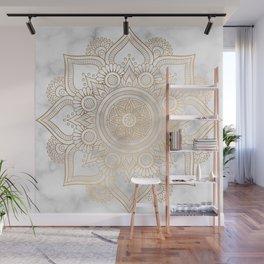 Marble Gold Mandala Design Wall Mural